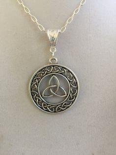 Celtic Silver Design Necklace by joytoyou41 on Etsy