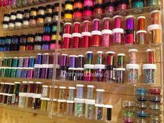 Nail Foil Storage For Mobile Techs / Limited Space Home Nail Salon, Nail Salon Design, Nail Salon Decor, Salon Interior Design, Nail Desk, Nail Room, Nail Organization, Nail Station, Beauty Room Decor