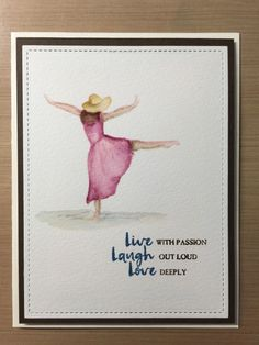 Beautiful You no line watercolor 1 by MakeTime2Stamp - Cards and Paper Crafts at Splitcoaststampers