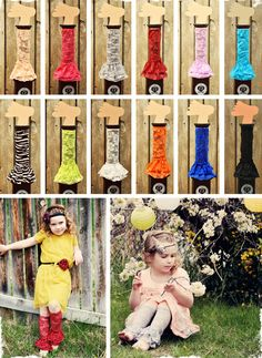 $6.50  Beautiful Ruffled Lace Legwarmers - 12 Colors to Choose From! at VeryJane.com