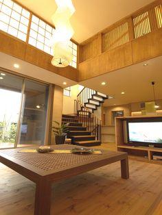 home interior design | Japanese Style Modern Living Room 和モダン