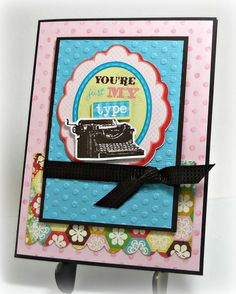 Cricut Imagine + Echo Park paper & Stampin' Up card stock and ribbon