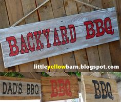 FATHER'S DAY... Little Yellow Barn: BBQ Signs... Great Gift for Dad