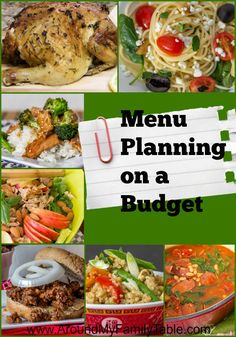 Tips for menu planning on a budget plus a free planner printable!