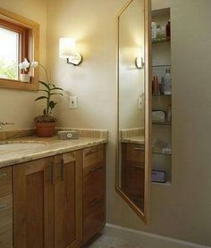"Do you need more storage in the bathroom, but don't have the space? Then this idea might help. Head over to our ""Bathroom Ideas"" album for more bathroom inspiration now at http://theownerbuildernetwork.co/ideas-for-your-rooms/bathrooms-gallery/bathrooms/ What do you think?"