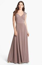 Patra Embellished Sequin Yoke Jersey Gown (Regular & Petite)