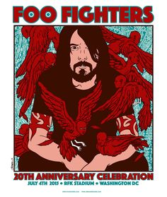 Jermaine Rogers Foo Fighters Washington DC Poster Release