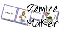 The Domino Maker: You can make dominoes with text on the left and images on the right.  You can print up to 10 per page.  Many different vocabulary categories to choose from and eventually over 1500 words that match the vocabulary from MES-English.com.