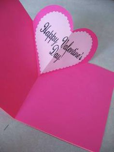 Fancy Valentine's Day pop-up card