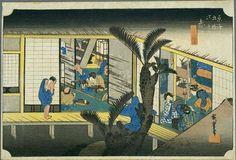 Hiroshige - The Fifty-three Stations of the Tōkaidō: 36th Station (Akasaka)