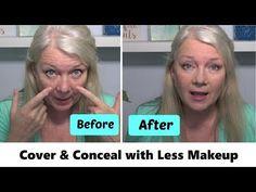 Makeup mature hooded eye