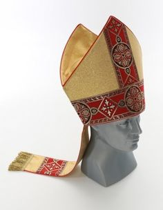 Bishop Mitre, Eucharist, Headgear, Christianity, Take That, Leather, Accessories, Masks, Head Coverings