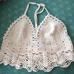 Crochet lace top Hæklet sommertop Opskrift 29kr