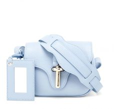 c91448dfe91 Baby Blue Balenciaga Leather Crossbody Bag, Leather Handbags, Leather Bags,  Balenciaga Bag,