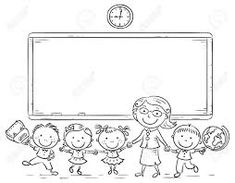 Teacher And Kids Back To School Coloring Pages Printable. We all go to school. We all study at school. We all love our school. School is where we learn, where we socialize, where we know many things. We learn. School Coloring Pages, Coloring Pages For Kids, Kid Snippets, School Gifts, School School, Latest Wallpapers, Scrapbooking, Make Color, Going Back To School