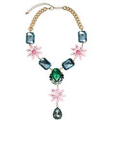 Enlarge ASOS Jewel & Flower Necklace