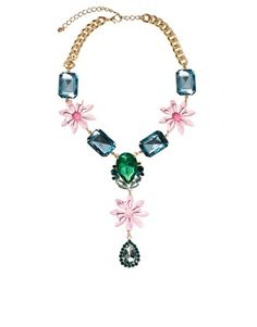 ASOS Jewel & Flower Necklace