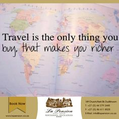 Travel is the only thing you buy, that makes you richer #travel #karoo #accommodation