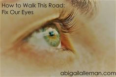 How to Walk This Road: Fix Our Eyes