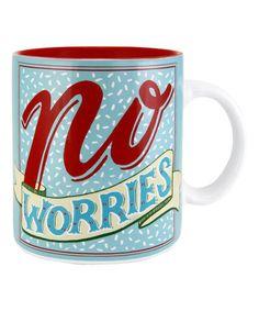 Look at this #zulilyfind! 'No Worries' Mug #zulilyfinds