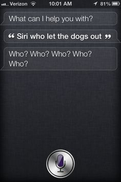 Joking with Siri, super bored