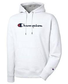 24556b5105967 Champion Men s Script Logo Powerblend Hoodie - Gray L