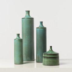 Jacques (1926-2008) et Dani (1933-2010) Ruelland -vers 1970 Ensemble de 3 vases et une boite,[