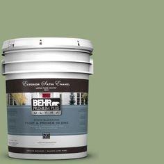 BEHR Premium Plus Ultra 5-gal. #M380-5 Hillside Grove Satin Enamel Exterior Paint-985405 - The Home Depot