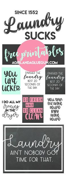 free Laundry room printables!