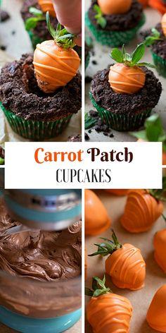 Get the recipe ♥ Carrot Patch Cupcakes #recipes @recipes_to_go