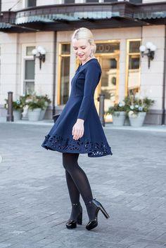 Poor Little It Girl - Navy Dress - @poorlilitgirl
