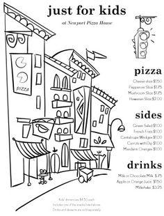 273 Best Restaurant Menu Art Images Kids