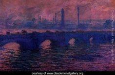 Waterloo Bridge Overcast Weather - Claude Oscar Monet