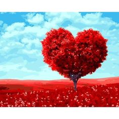 Valentine's Day Tree Paint By Number Kit