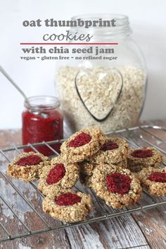 raspberry jam thumbprint cookies almond thumbprint cookies gluten free ...