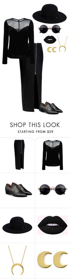 """""""Little Witch B!+€#"""" by jadenblanche02 ❤ liked on Polyvore featuring Glamorous, Lanvin, Siggi, Anna + Nina, witch, ahs and Coven"""