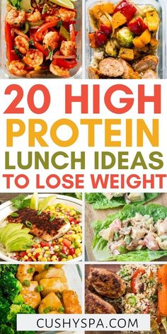 20 High Protein Lunch Ideas To Keep You Full - - These high protein lunches are delicious and nutritious. You can get inspiration for your high protein meal prep or even dinner, so check out these high protein recipes. High Protein Lunch Ideas, Healthy High Protein Meals, High Protein Dinner, High Protein Low Carb, High Protein Recipes, Healthy Meal Prep, Lean Protein Meals, High Protien, Healthy Zucchini