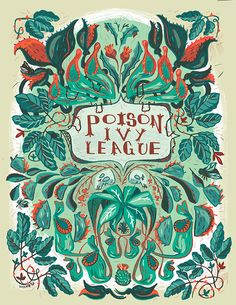 Poison Ivy League notebooks from Skullastic. Illustration by Pam Wishbow.  Comes in line, unlined, graph, music, comic, all kinds of paper. Also left or right handed. Great options!