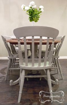 Oval Dining Table Six Chairs Chalk PaintTM By Annie Sloan Stockists Trainers