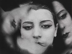 """'Kiki de Montparnasse' (1924) by American artist and Surrealist photographer Man Ray (1890-1976), based on Fernand Leger's """"Ballet Mecanique."""" source: man ray-photo. via Barefoot"""