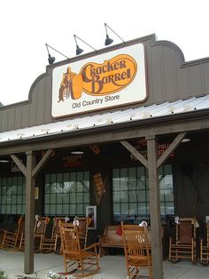 Cracker Barrel...A favorite road trippin' eatery and gift shoppe! California is missing out on a great place.