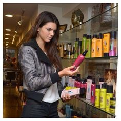 Kendall Jenner loves KMS products just as much as we do!!! She is interested in the Free Shape Hot Flex Spray! It is a heat activated shaping spray that has an elastic hold, which provides unlimited styles! Go from curly to straight and back to curly #sparkshairdesign #style #kmscalifornia #depasquale www.facebook.com/sparkshairdesign www.sparkshairdesign.com