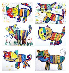 Art Drawings For Kids, Drawing For Kids, Art For Kids, Grade 1 Art, First Grade Art, Kindergarten Art Lessons, Art Lessons Elementary, Crab Crafts, Animal Art Projects