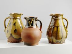Wood Fired Large Slipware Medieval Jugs