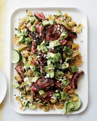 Cola-Marinated Flank Steak with Frito Chilaquiles Recipe on Food & Wine