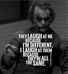 Most memorable quotes from Joker, a movie based on film. Find important Joker Quotes from film. Joker Quotes about who is the joker and why batman kill joker. Wisdom Quotes, True Quotes, Great Quotes, Quotes To Live By, Motivational Quotes, Inspirational Quotes, Funny Quotes, Fed Up Quotes, Thug Life Quotes