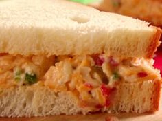 Smoky Pimento Cheese Sandwiches Recipe : Jamie Deen : Food Network - No white bread - great filling for celery sticks Pimento Cheese Sandwiches, Pimento Cheese Recipes, Pimiento Cheese, Cheese Sandwich Recipes, Soup And Sandwich, Cheese Appetizers, Yummy Appetizers, Food Network Recipes, Cooking Recipes