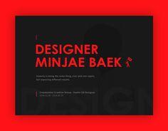 다음 @Behance 프로젝트 확인: \u201cDesigner – Minjae Baek\u201d https://www.behance.net/gallery/35332591/Designer-Minjae-Baek