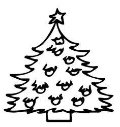 Kostenlose Ausmalbilder und Malvorlagen: Weihnachtsbäume zum Ausmalen und Ausdrucken