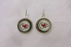 Kansas City Chiefs Earrings made from Football Trading Cards #KansasCityChiefs